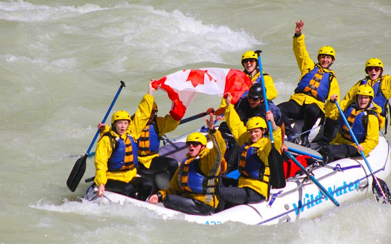 Rafting in Banff, Kicking Horse River Rafting Trips