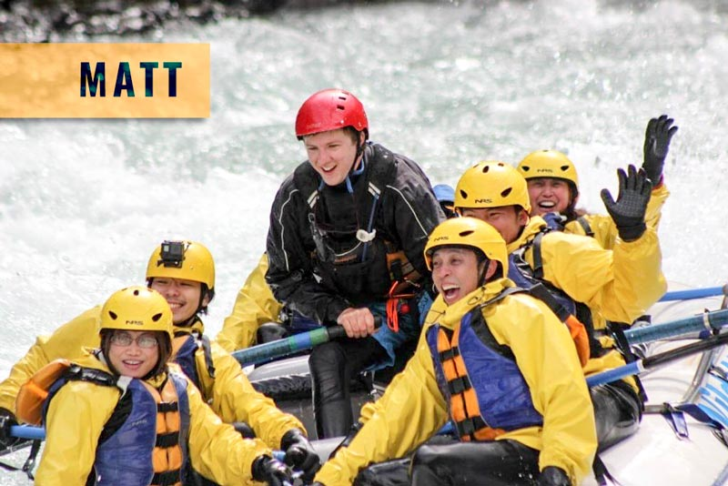 kicking horse river raft guide, banff national park